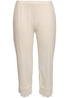 Cosabella Woman Cropped Lace-trimmed Cotton-blend Jersey Pajama Pants Ivory