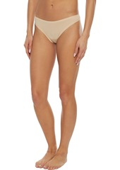 Cosabella Woman Everyday Set Of Seven Stretch-cotton Jersey Low-rise Thongs Beige