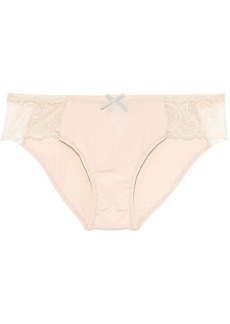 Cosabella Woman Evolved Stretch-jersey And Lace Low-rise Briefs Peach