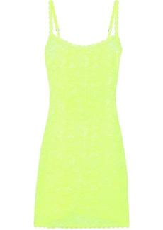 Cosabella Woman Foxie Stretch-lace Chemise Bright Yellow