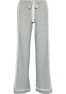 Cosabella Woman Hustle Checked Micro Modal-blend Jersey Pajama Pants Gray