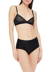 Cosabella Woman Kimberly Stretch-mesh Soft-cup Triangle Bra Black