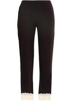 Cosabella Woman Lace-trimmed Cotton-blend Jersey Pajama Pants Black