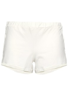Cosabella Woman Lace-trimmed Cotton-blend Jersey Pajama Shorts Ivory