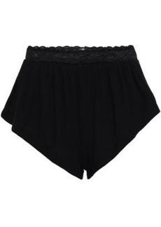 Cosabella Woman Lace-trimmed Micro Modal-blend Jersey High-rise Briefs Black