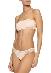 Cosabella Woman Lace-trimmed Stretch-jersey Low-rise Briefs Peach