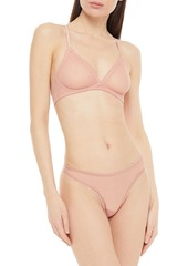 Cosabella Woman Lace-trimmed Stretch-mesh Underwired Bra Antique Rose