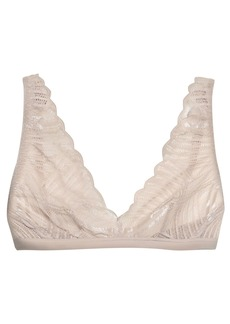 Cosabella Woman Minoa Satin-trimmed Lace Soft-cup Triangle Bra Stone