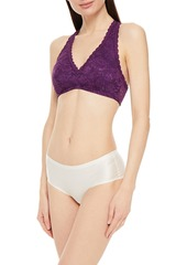 Cosabella Woman Never Say Never Stretch-lace Bralette Purple