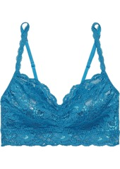 Cosabella Woman Never Say Never Sweetie Stretch-lace Bralette Sky Blue