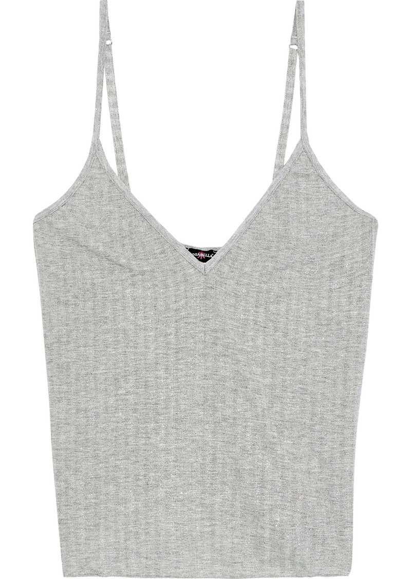 Cosabella Woman Ribbed Metallic Jersey Camisole Gray