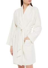 Cosabella Woman Ribbed Stretch-jersey Robe White