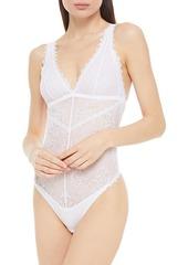 Cosabella Woman Leonora Stretch-lace Bodysuit White
