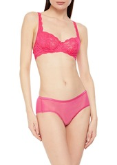 Cosabella Woman Soiré Confidence Mesh Mid-rise Briefs Bright Pink