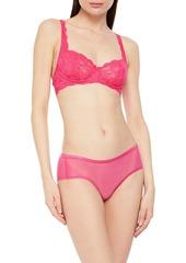 Cosabella Woman Soiré Confidence Mesh Mid-rise Briefs Bright Pink