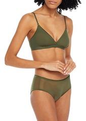 Cosabella Woman Soire Confidence Stretch-mesh Soft-cup Triangle Bra Fuchsia
