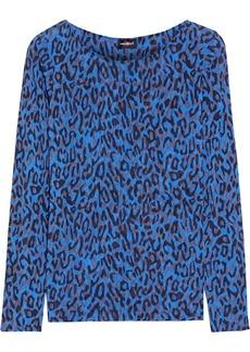 Cosabella Woman Soire Instinct Leopard-print Stretch-mesh Pajama Top Blue