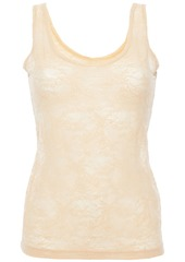 Cosabella Woman Stretch-leavers Lace Tank Neutral