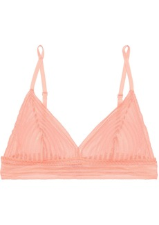 Cosabella Woman Sweet Treats Lace Soft-cup Triangle Bra Baby Pink