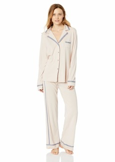 Cosabella Women's Bella Long Sleeve Top & Pant Pajama Set Pink dust/Incenso
