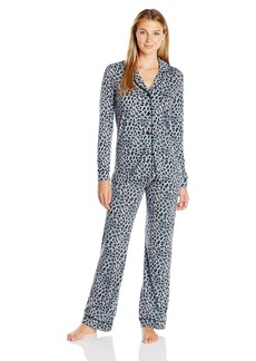 Cosabella Women's Bella Long Sleeve Top and Pant Pajama Set Printed