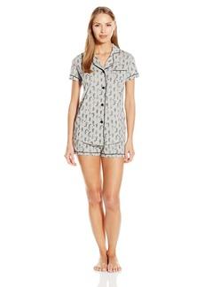 Cosabella Women's Bella Printed Short Sleeve Top and Boxer Pajama Set