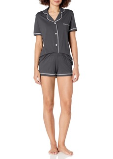 Cosabella Women's Bella Short Sleeve Top & Boxer Pajama Set