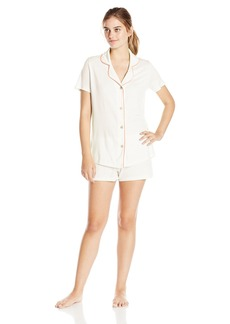 Cosabella Women's Dillon Short Sleeve Top and Boxer Pajama Set