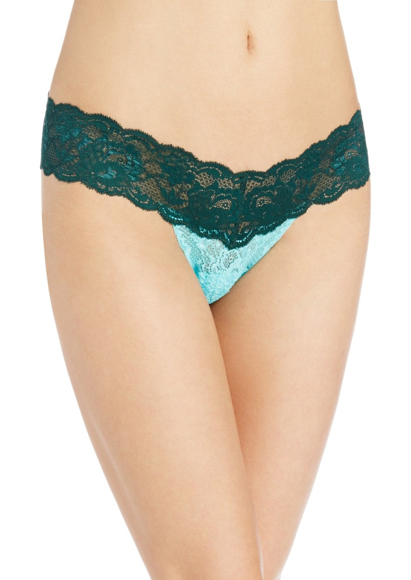 Cosabella Women's Never Say Never 2 Tone Cutie Low Rise Thong Panty