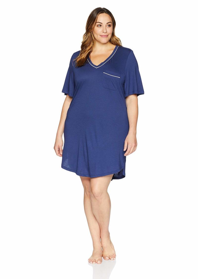 Cosabella Women's Plus Size Bella Extended Short Sleeve Dress  3X