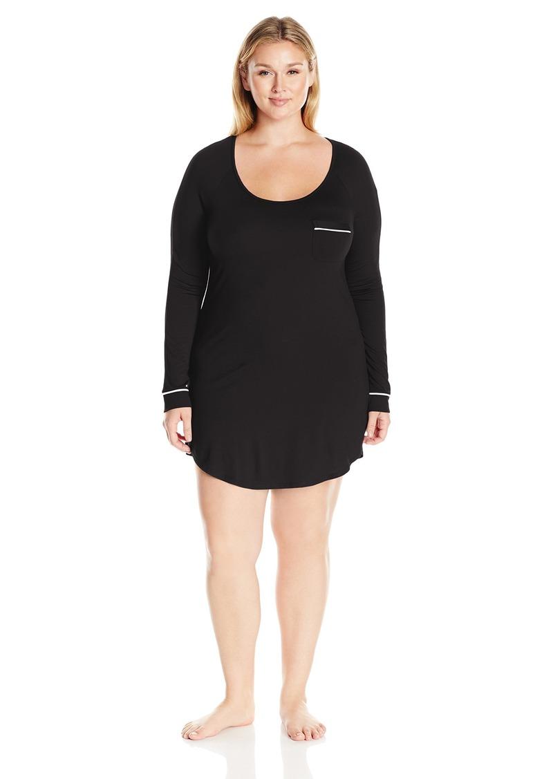 Cosabella Women's Plus Size Bella Extnd Long Sleve Dress Pj  3X
