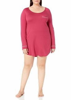 Cosabella Women's Plus Size Bella Extnd Long Sleve Dress Pj