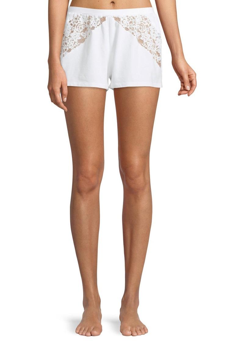 Cosabella Jazmine Lace-Inset Lounge Shorts