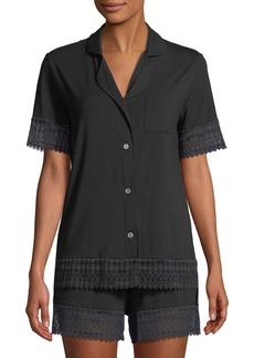 Cosabella Lunna Lace-Trim Shortie Pajama Set