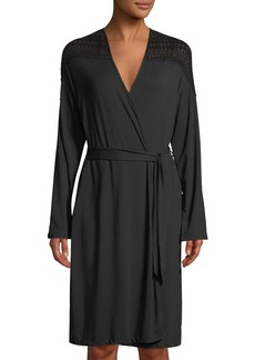 Cosabella Lunna Lace-Trimmed Short Robe