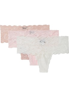 Cosabella Never Say Never Set Of Three Stretch-lace Thongs