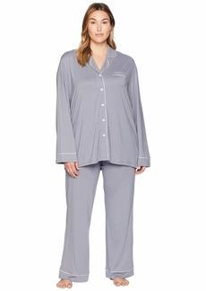 Cosabella Plus Size Bella PJ Long Sleeve Top and Pants PJ Set