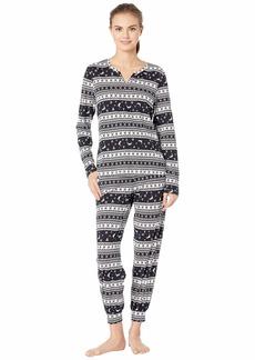 Cosabella Ski Trip Printed Pima Cotton PJ Set