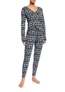 Cosabella Talia Printed Long Sleeve Jogger Set