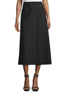 CoSTUME NATIONAL A-Line Midi Skirt