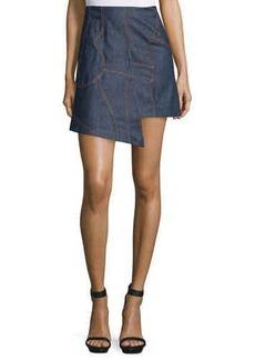 CoSTUME NATIONAL Asymmetric-Hem Denim Skirt