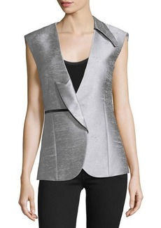 CoSTUME NATIONAL Asymmetric-Lapel Fitted Vest