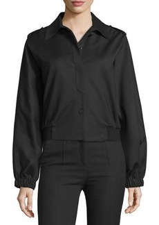Costume National Button-Front Short Sports Jacket