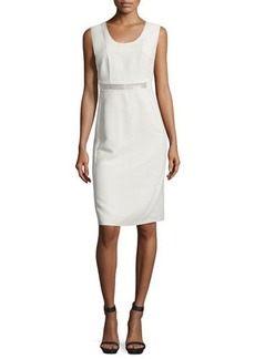 CoSTUME NATIONAL Embellished-Waist Sheath Dress