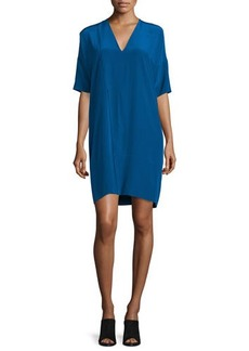 CoSTUME NATIONAL Half-Sleeve V-Neck Shift Dress