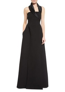 Costume National Halter Gown with Pockets