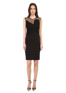 CoSTUME NATIONAL Illusion Neckline Sheath Dress