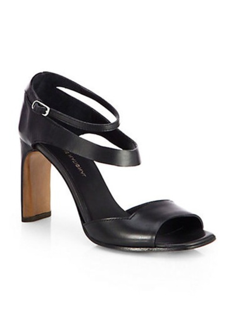 Costume National Leather Double-Strap Sandals