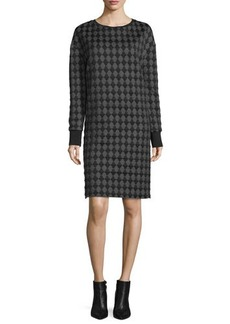 CoSTUME NATIONAL Long-Sleeve Diamond-Print Dress