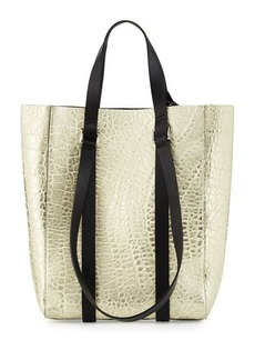 CoSTUME NATIONAL Metallic Leather Tote Bag
